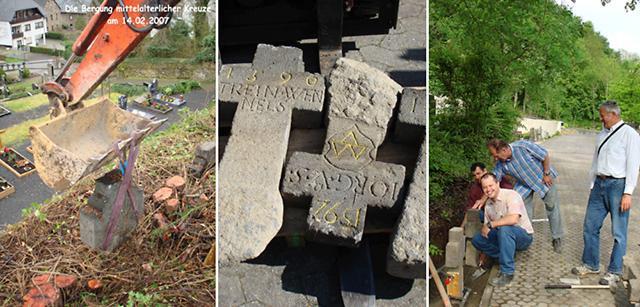 Sicherstellung von historischen Grabkreuzen